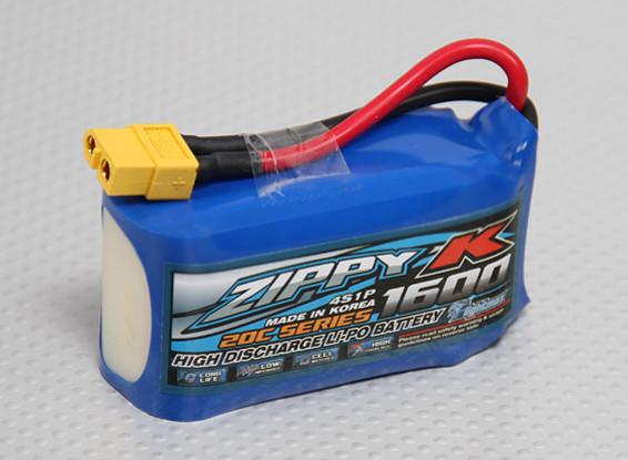 Batterie Zippy-K FlightMax 1600mAh 4S1P 20C Lipoly
