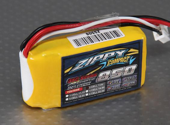 ZIPPY Compact 850mAh 2S 35C Lipo Paquet