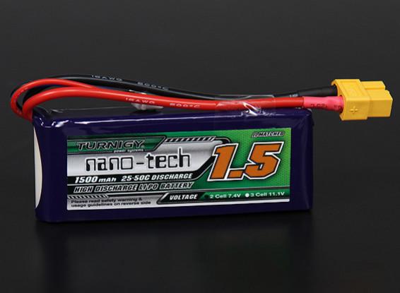 Turnigy nano-tech 1500mah 2S 25 ~ 50C Lipo Paquet
