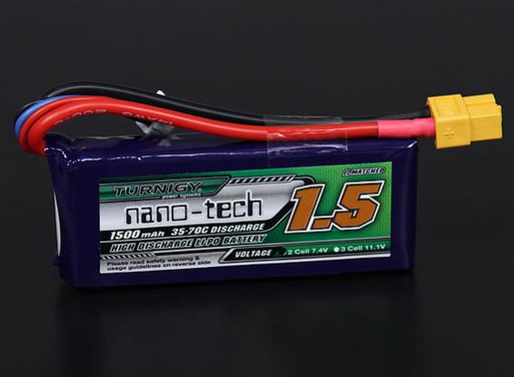 Turnigy nano-tech 1500mah 2S 35 ~ 70C Lipo Paquet