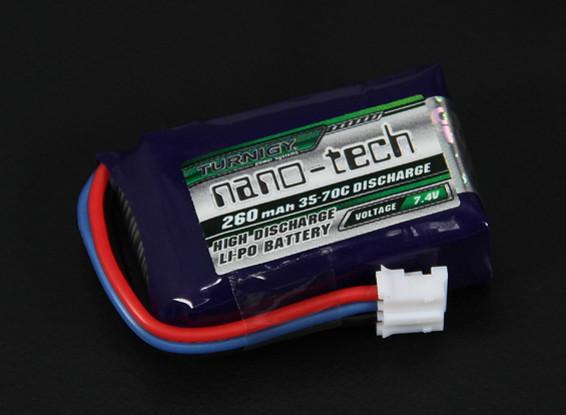 Turnigy nano-tech 260mAh 2S 35 ~ 70C Lipo Pack (E-flite Compatible EFLB2002S25)