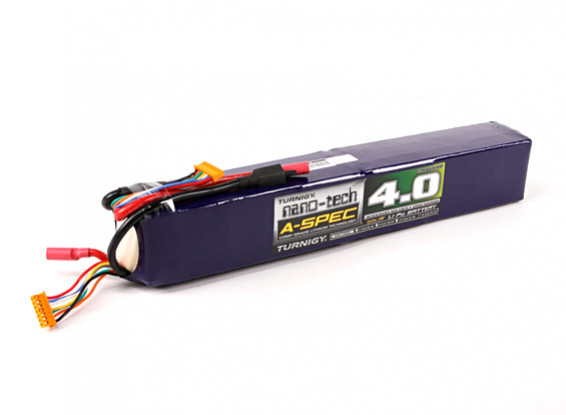 Turnigy nano-tech A-SPEC 4000mAh 12S 65 ~ 130C Lipo Paquet