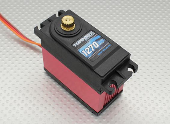Turnigy ™ GTY-1270HV roulement à billes DS / MG Servo w / Heat Sink 40 kg / 0.18sec / 170g