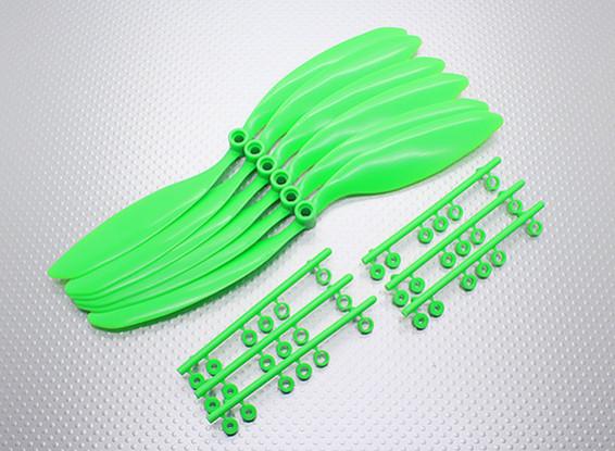 GWS EP hélice (RD-9047 228x119mm) vert (6pcs / set)