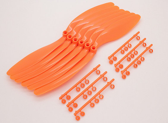 GWS EP hélice (RD-1047 254x119mm) orange (6pcs / set)