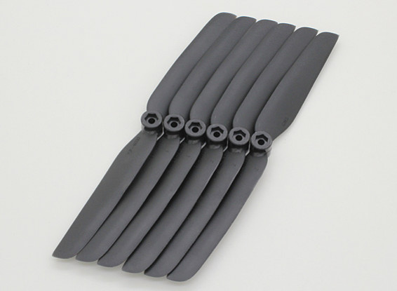 GWS EP hélice (DD-6030 152x76mm) noir (6pcs / set)