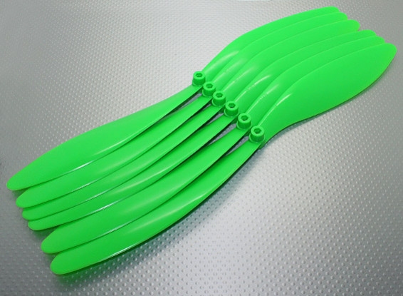 GWS EP hélice (RD-1470 356x178mm) vert (6pc / paquet)