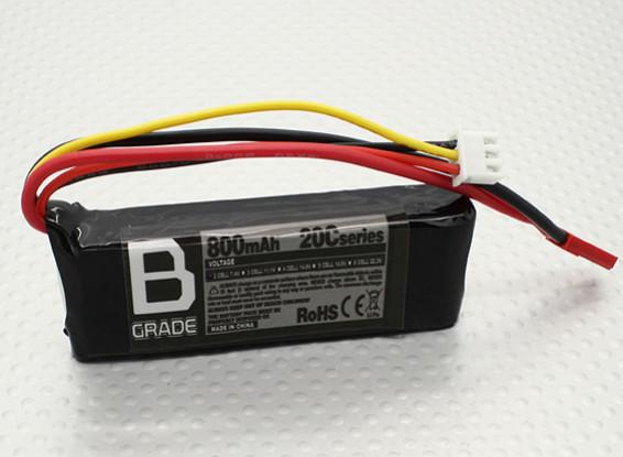 Grade B Batterie 800mAh 2S 20C long Lipoly