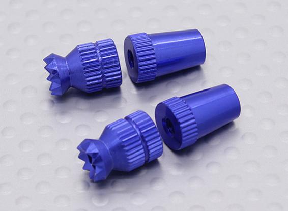 Alliage Anti-Slip Contrôle TX Sticks Short (Futaba TX Bleu)
