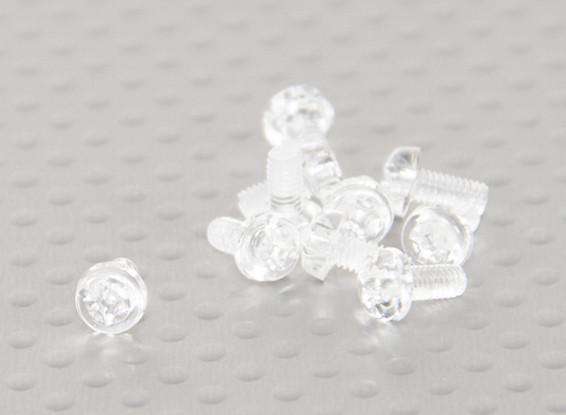 Transparent Vis en polycarbonate M3x6mm - 10pcs / bag