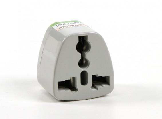 HobbyKing TXW016 Fused 13 Amp alimentation secteur multi Adaptateur-Grey (UA Plug)