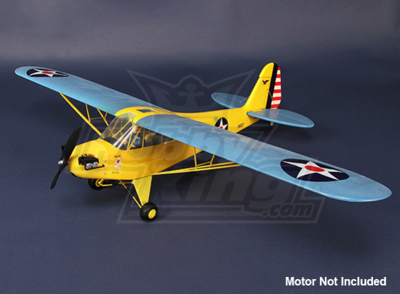 HobbyKing J3 Cub - KIT (jaune / bleu)