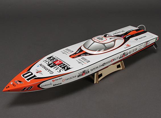 Smash Shark en fibre de verre Offshore Brushless Racing Boat w / Moteur (840mm)
