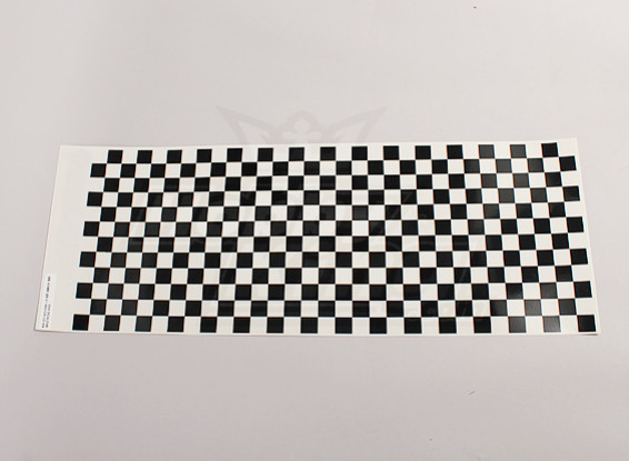 Fiche Decal Petit Chequer Black Pattern / Clear 590mmx180mm