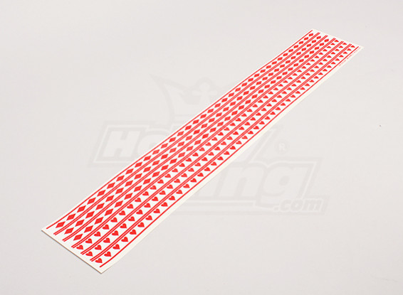 F-18 Viper Diamond Style and Heart Decal Strips 590mmx15mm par bande