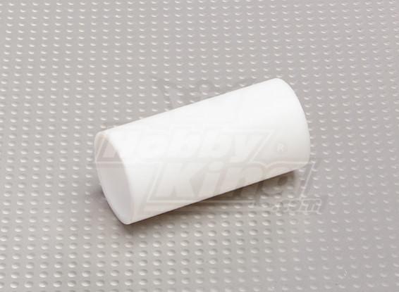 Teflon 25mm Silencieux / Avant menuisier de tuyau pas de clips