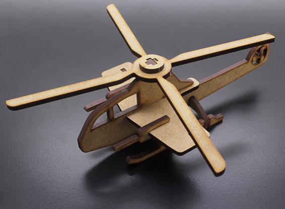 Hélicoptère militaire Laser Cut Bois Modèle (KIT)