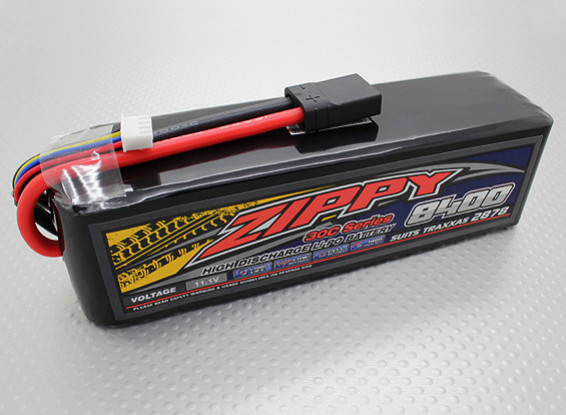 ZIPPY Traxxas compatible 8400mAh 3S1P 30C Lipo Pack (costumes TRA2878)