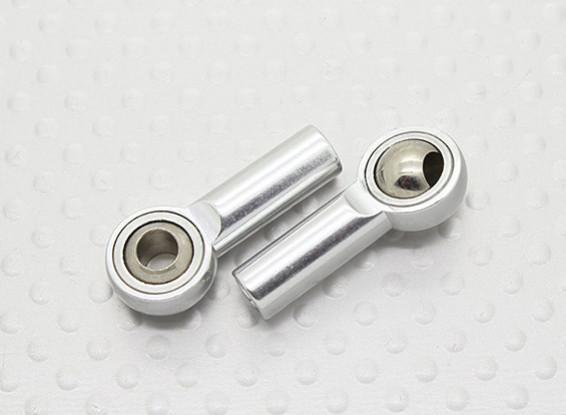 Métal Joints à rotule (filetage main gauche) M4 × 26mm × 4mm - 2pcs