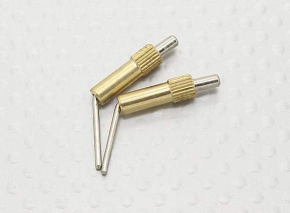 Brass Canopy Locks L20mm - 2pcs