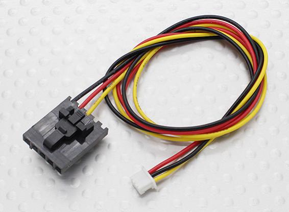 300mm 5 Pin Molex / JR à 3 broches du connecteur blanc de plomb