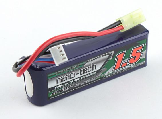 Turnigy nano-tech 1500mAh 3S 20-40C Lipo AIRSOFT Paquet