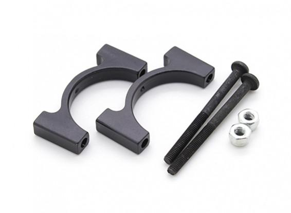 Anodisé noir CNC en aluminium Tube Clamp 22mm Diamètre