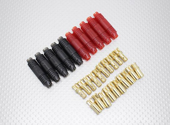 5mm RCPROPLUS Supra X Or Bullet Connecteurs polarisés batterie (10 paires)