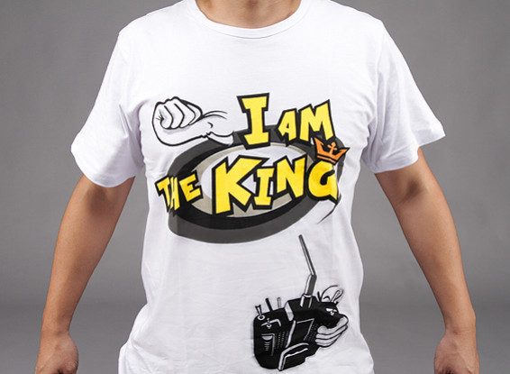 """""""I am the King"""" T-shirt HobbyKing (Large) - Offre Remboursement"""