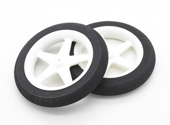 Mousse légère roue 5 branches (Diam: 80mm, 13mm Largeur) (2pc)
