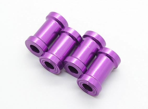 20mm CNC en aluminium écarteurs (violet) 4pcs