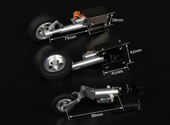 Injection Turnigy Deluxe Full Metal Alloy Servoless Retract (Tricycle) F9F8 Cougar