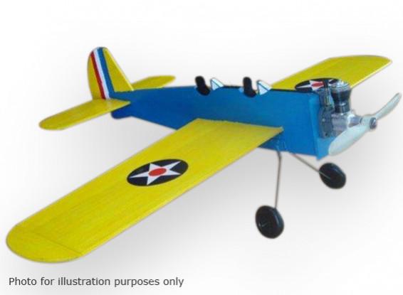 Noir Modèles Hawk formateur PT-19 Line Control Balsa 584mm (Kit)