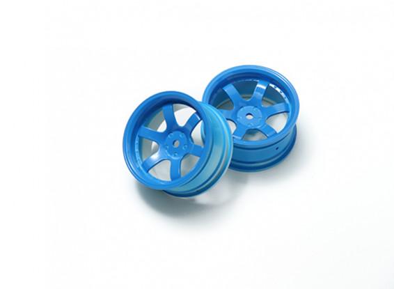 01:10 Rallye roue 6 rayons Fluorescent Bleu (6mm Offset)