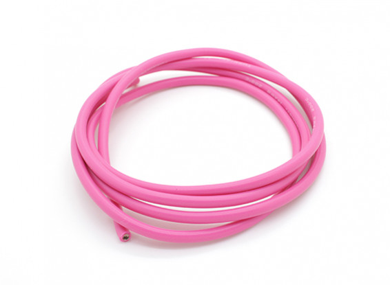 Turnigy Pure-silicone Fil 14AWG 1m (Rose)