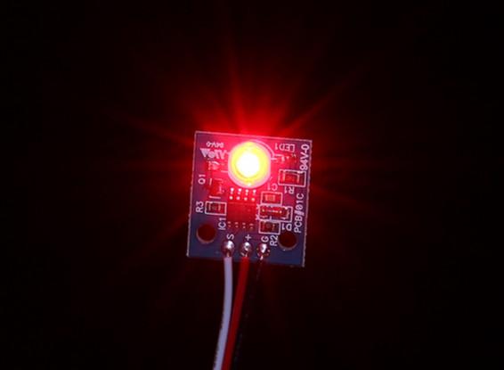 HobbyKing LED PCB Strobe Ball (12V) Rouge