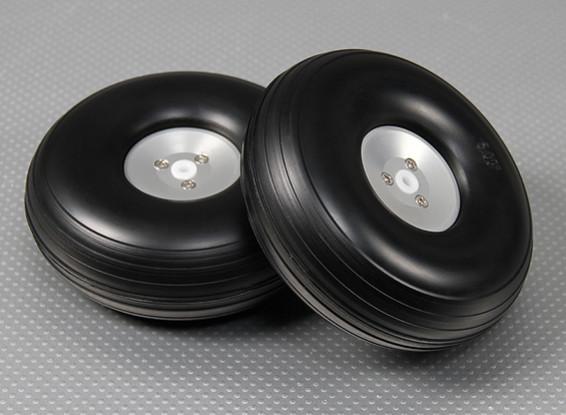 126mm (5 pouces) Assemblée roue Echelle alliage léger (2pc)