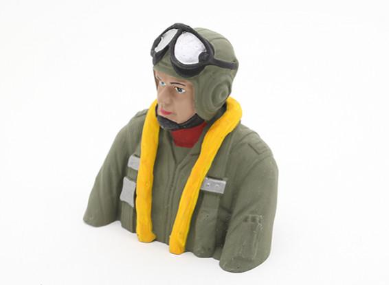 La Seconde Guerre mondiale pilote allemand (H93 x W88 x D50mm)