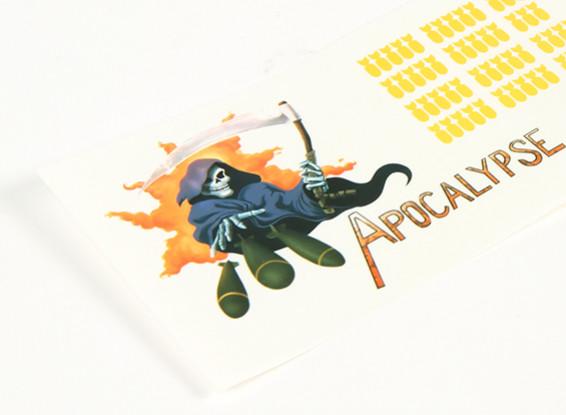 Art Nez - Apocalypse 250 x 85mm auto-adhésif Decal Set