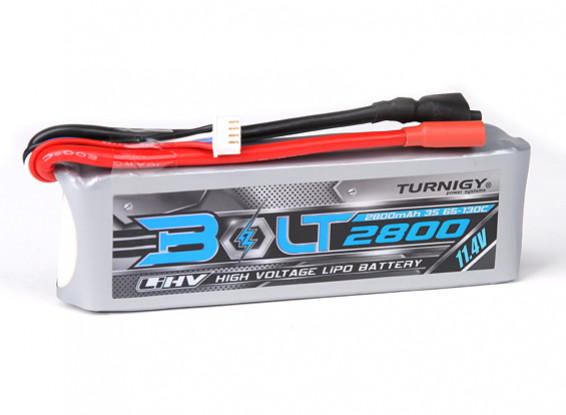 Turnigy Bolt 2800mAh 3S 11.4V 65 ~ 130C High Voltage Lipoly Pack (LiHV)