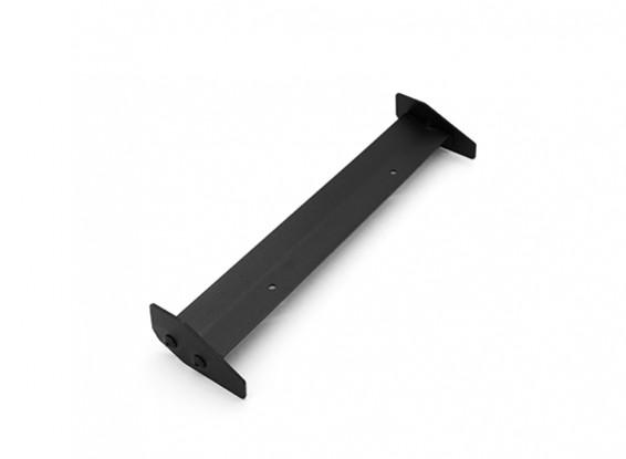 1/10 Echelle Aluminium Simple Wing arrière (noir) 168 x 40mm