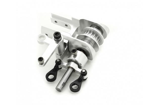 RJX X-TRON 500 Aluminum Tail Rotor Gearbox Assemblée # X500-60862