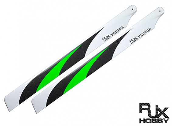 325mm RJX Vector 3K fibre de carbone Flybarless pales