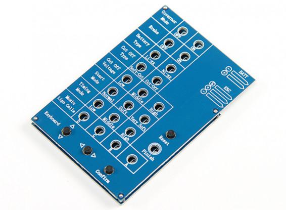 Dr Mad Thrust EDF ESC Programmation Card