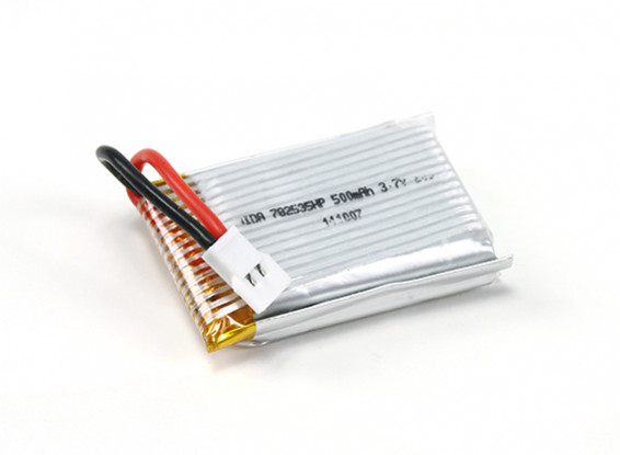Batterie HobbyKing ™ Mini X6 Micro Hexa-copter Remplacement 3.7V 500mAh (1pc)