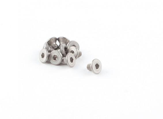 Titanium M2.5 x 4 fraisée Vis à tête hexagonale (10pcs / bag)