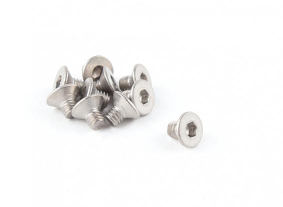 Titanium M4 x 6 fraisée Vis à tête hexagonale (10pcs / bag)