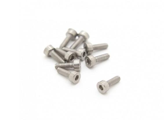 Titanium M2 x 6 Vis à tête creuse hexagonale (10pcs / bag)