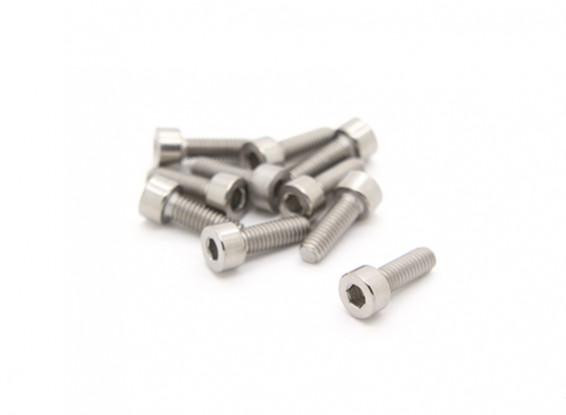 Titanium M4 x 12 Vis à tête creuse hexagonale (10pcs / bag)