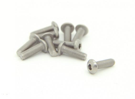 Titanium M3 x 10mm dôme à tête hexagonale Vis (10pcs / bag)